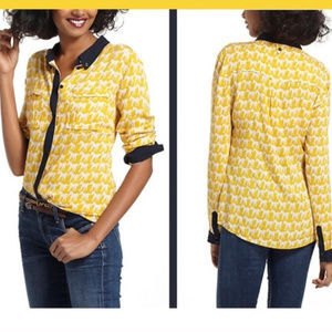 Anthropologie Maeve Horse patterned Top